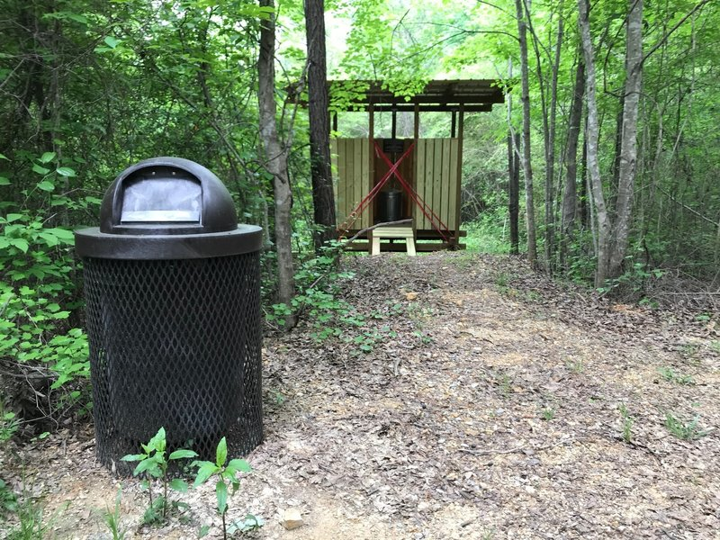 The privy at the trailhead.