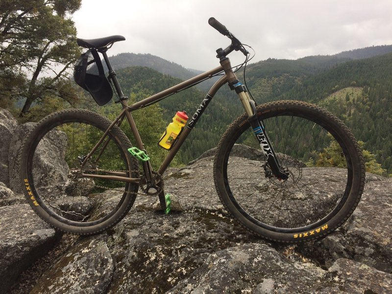 View from some rocks in the lower portion of the trail. Cool view of the Silver Fork meeting the South Fork of the American River. What kind of dummy rides a single speed on this trail? This dummy. Bring a machete!