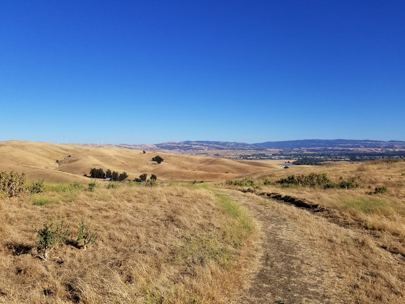 Laughlin Ranch and Livermore are quite beautiful from the West Side Loop Trail.