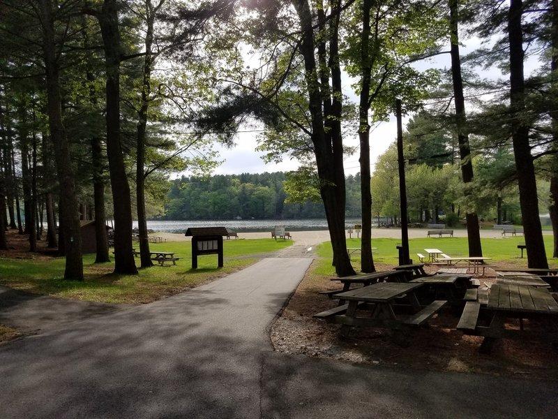 Burr Pond State Park beach area