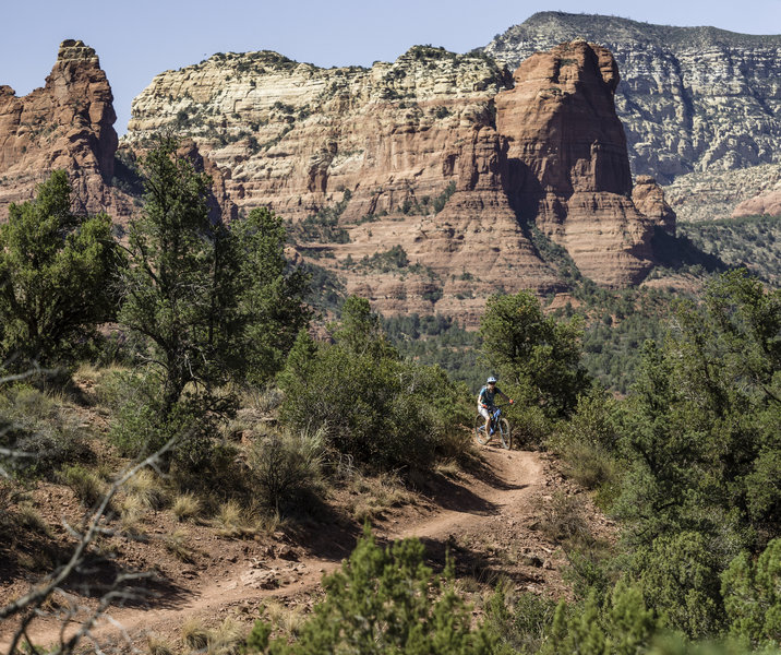 Stunning backdrops and perfect singletrack