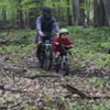 It's never too early to start on the mountain bike trail!