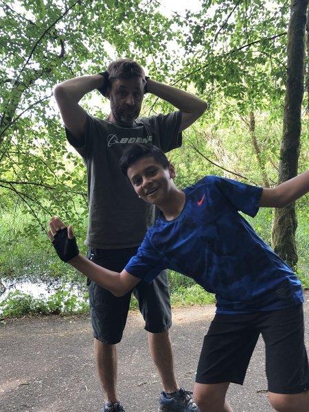 Fun fun on Salmon Creek Trail!!!