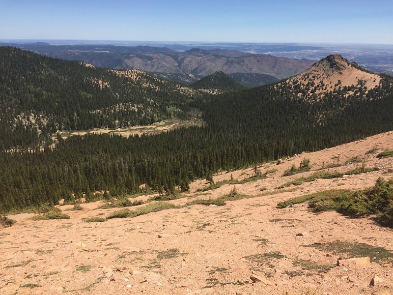 Your first view as you descend Elk Park