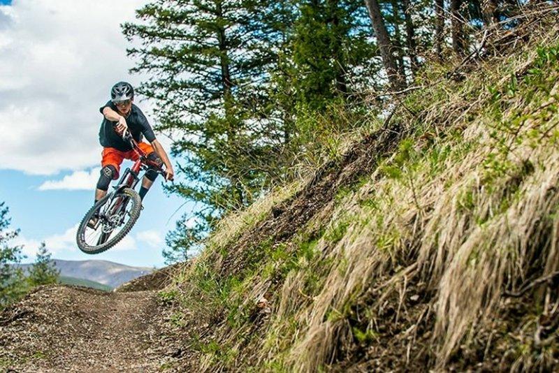 Nice jump action along the River Run Trail