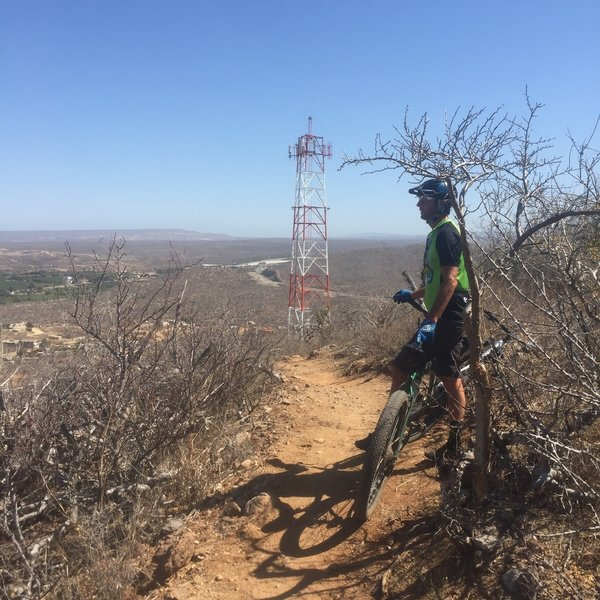 Radio tower at top of the first climb