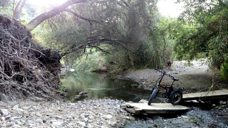 Arroyo Conejo stream crossing. Very tranquil spot.