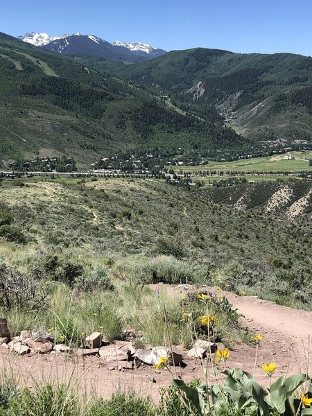 Looking down the Saddle Ridge switchbacks