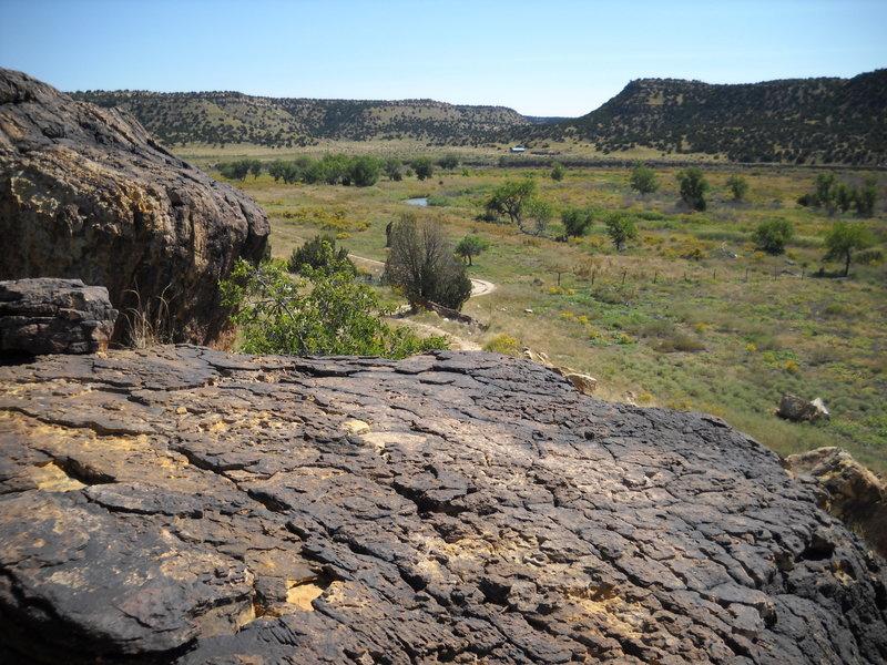 Purgatory Canyon from petroglyph site