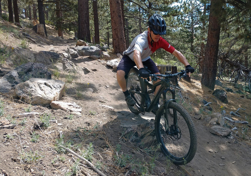 Lots of fun little hucks and easy technical bits along Skyline trail!