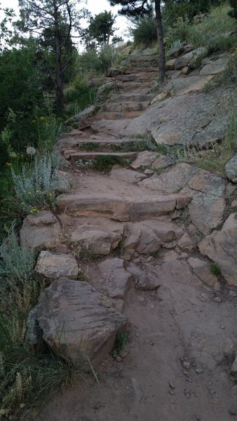 The stairs near the top of Zorro
