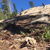 Slab riding on Gold Valley Rim Trail