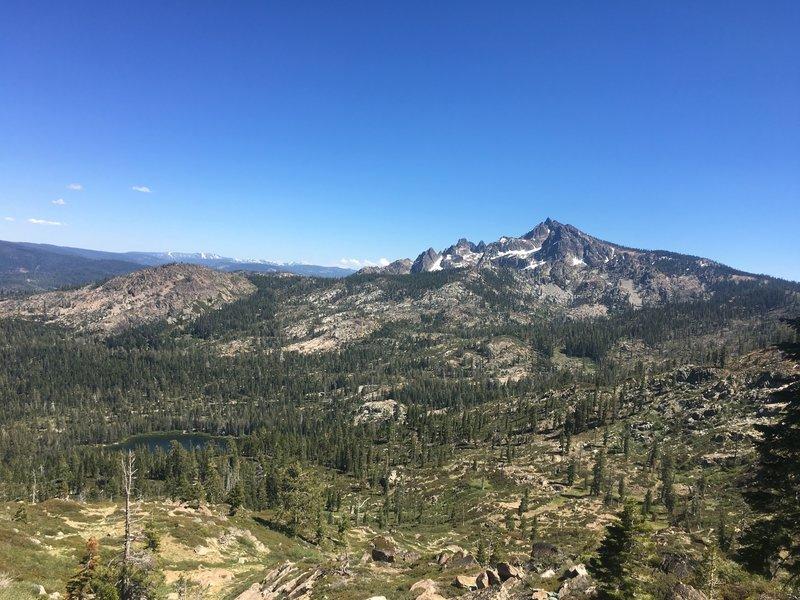 Sierra Buttes vista from Gold Valley Rim Trail