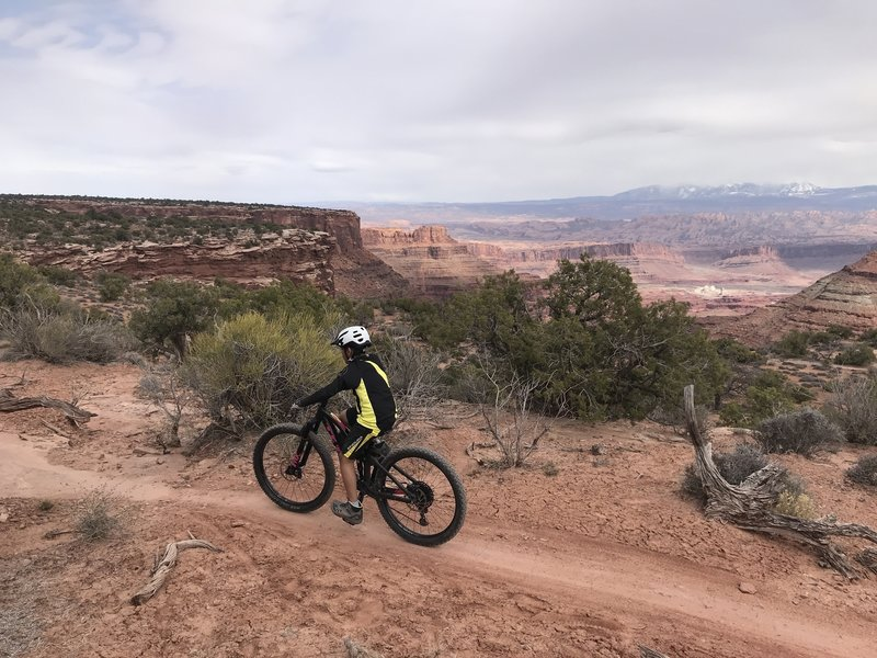 Riding Deadhorse state park trails in Moab. Great beginner trails!