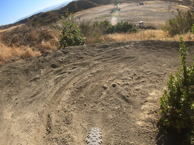 The final, and most dangerous switchback of the course.