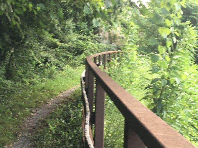 Near upper trail end