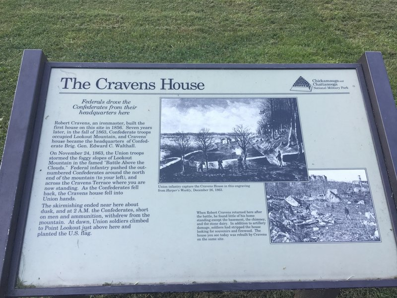 Historic Cravens House and other Civil War monuments