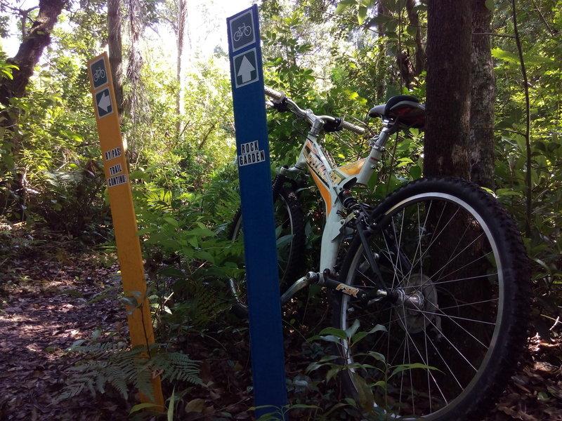 Orlando Mountain Bike Park's trail options.