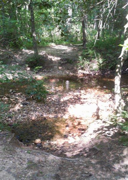 Creek crossing on Gold Rush