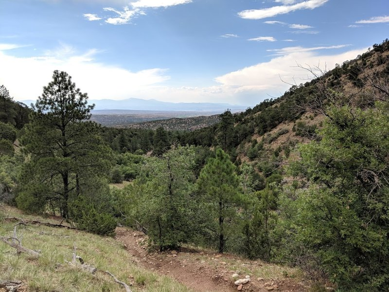 View of the valley from the beginning (if riding north)