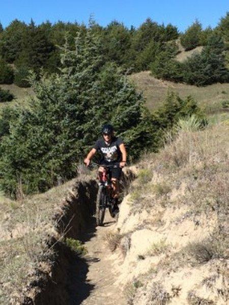 Rounding the corner on the Desert trail