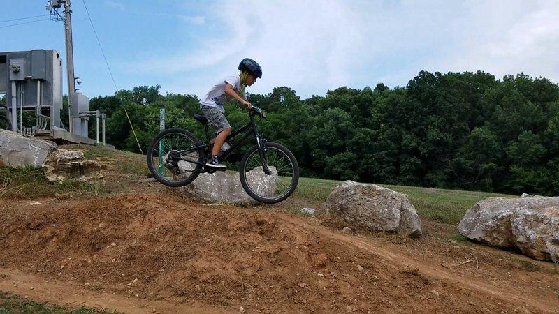 Fun downhill jump