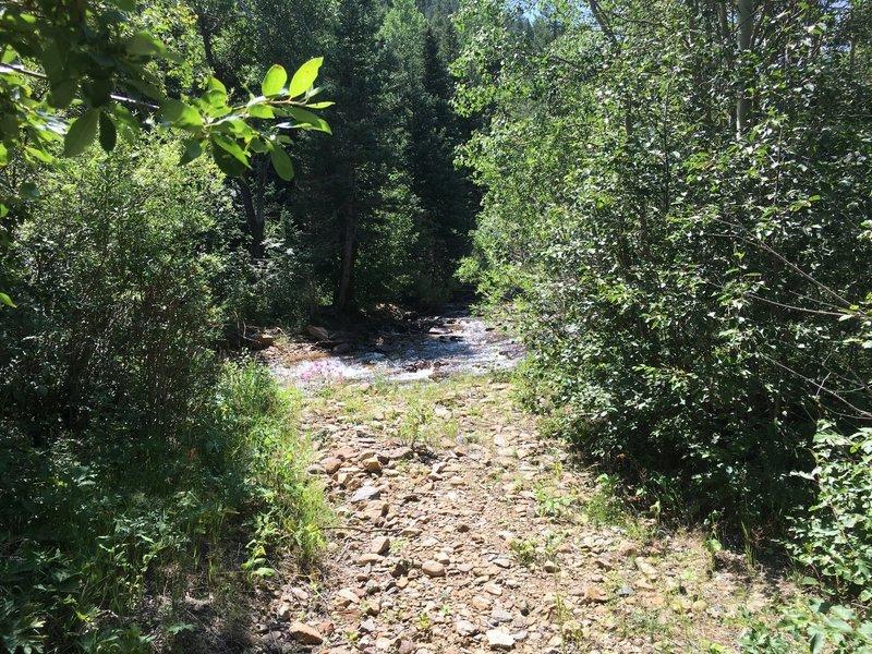 Water crossing at Jim Creek