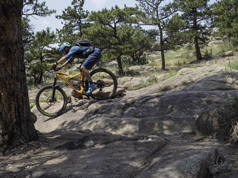 The climb has some fun fun moments as well