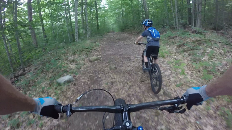 Rocky doubletrack on the Bisby Road trail.