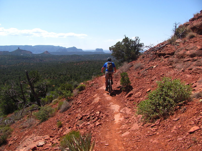 Riding a ridge