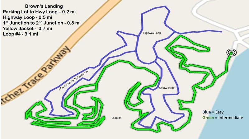 Brown's Landing Trail Map