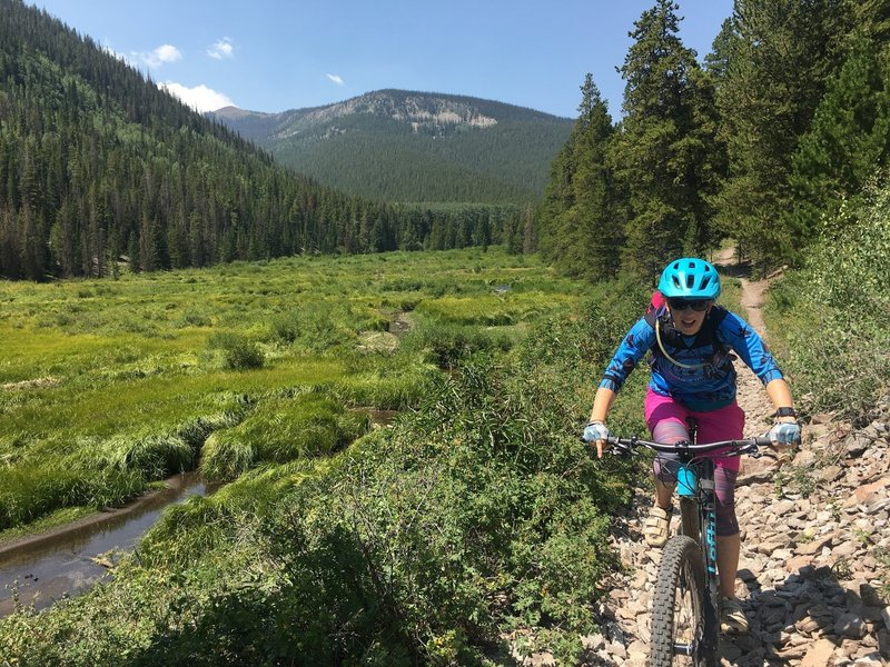 Descending Monarch Crest on the Silver Creek Trail