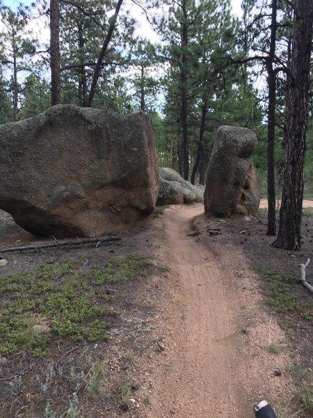 Ride through boulders