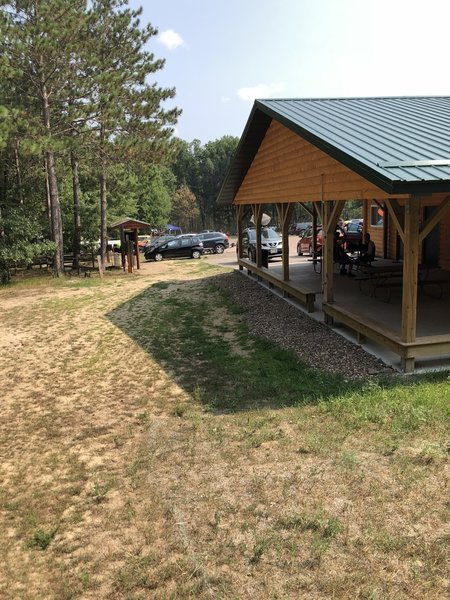 snapshot of lodge and trailhead area