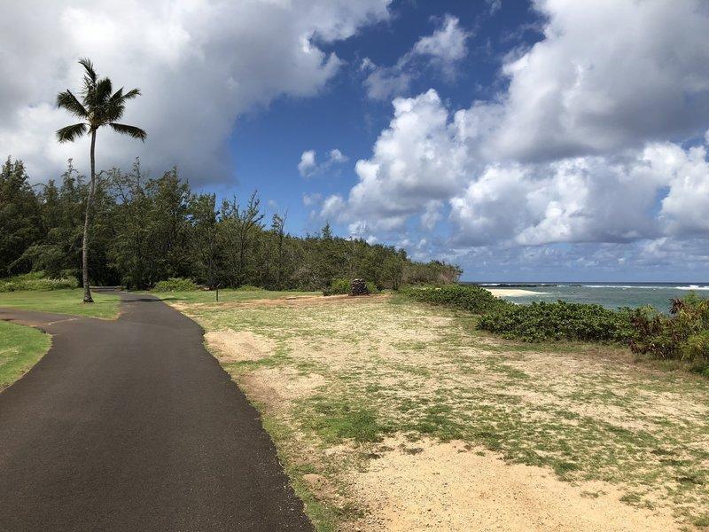 The golf cart path