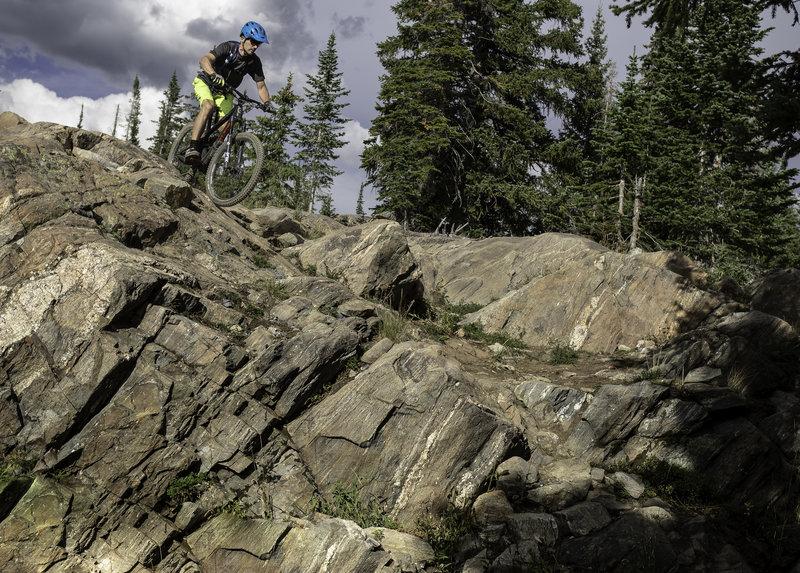 Plenty of steeps on Grouse Ridge