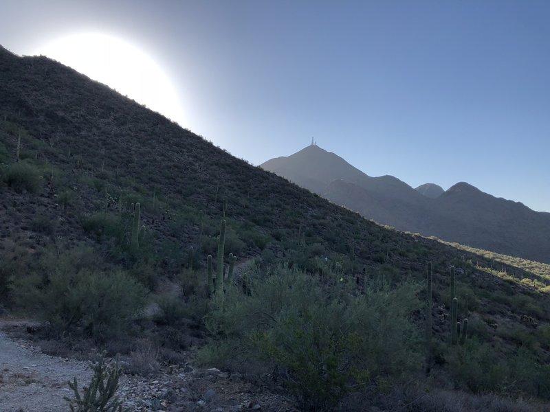 At Gateway Saddle looking east at sunrise