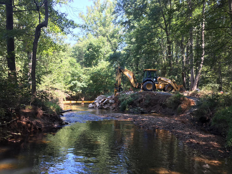 Site of historic Gabrielson Bridge over Difficult Run Stream removed 9/4/18 - allowed safe access to/from CCT via Flowerstone St or Hunters Valley/Leeds Rd. Please contact Fairfax County Trails Cmte & Park Auth to support efforts to have it replaced ASAP.