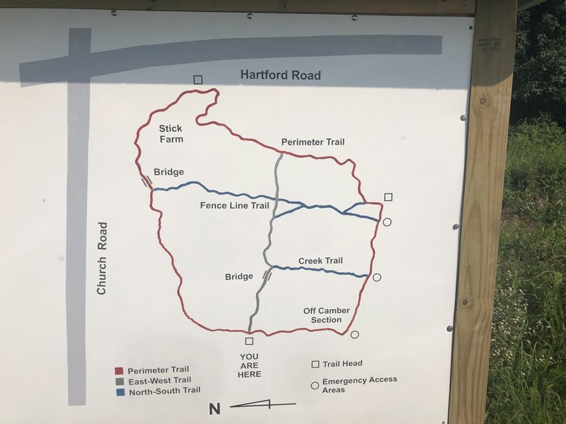 Close up of the trail map