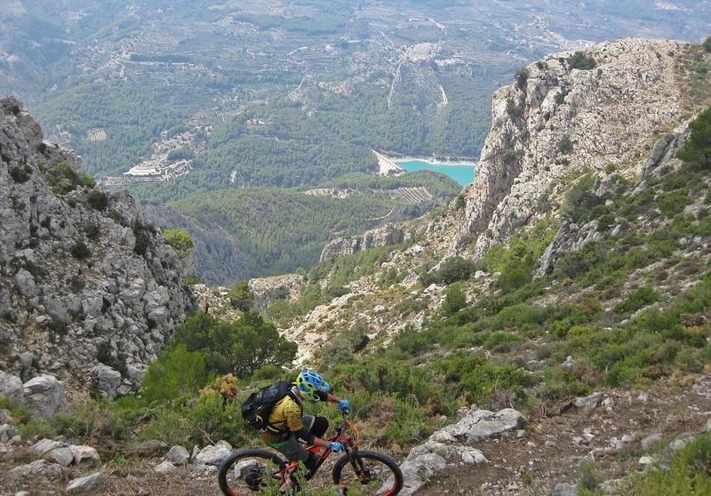 Incredible views on the Guadalest Valley.