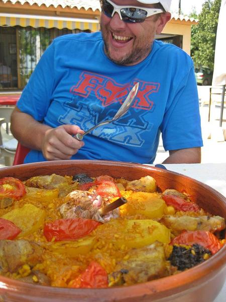 "Typical food ""arròs al forn""."