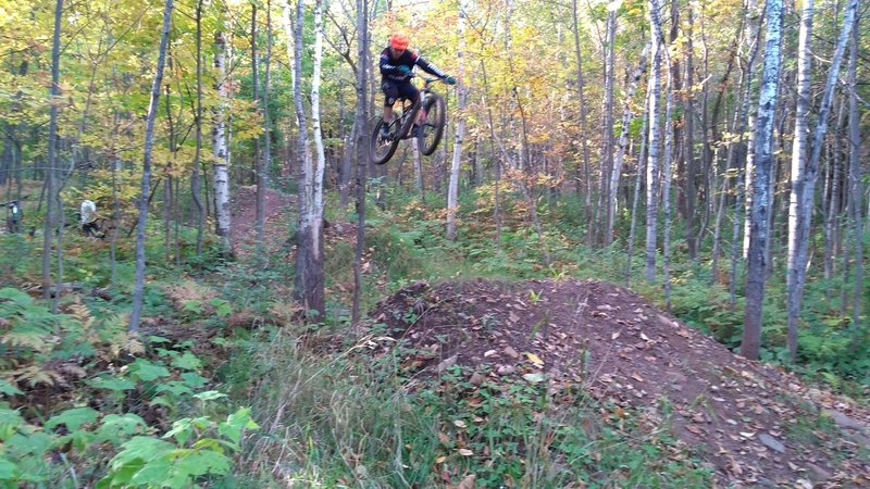 """Sending it over one of the jumps in the set """"Boss Hog""""."""