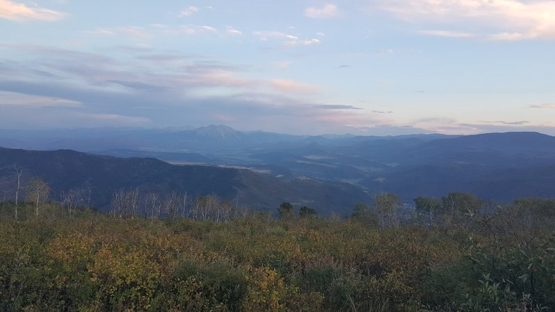 The Roaring Fork Valley at sunset