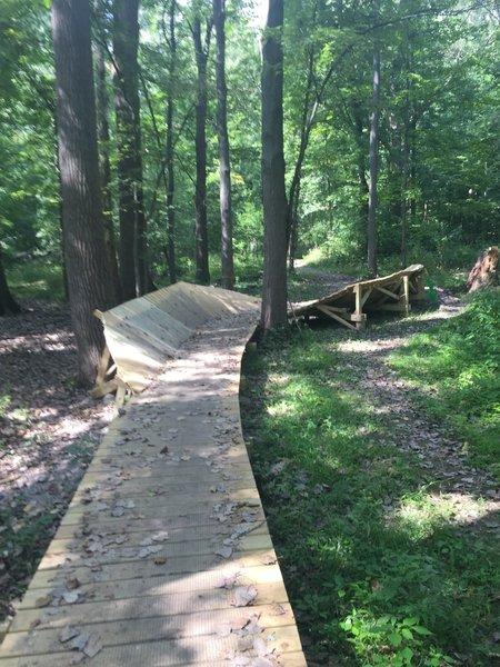 wood berm bridge in section 3 of CRP