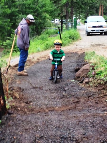 First Tracks---Teething Trail. A pro mtn biker in the making!