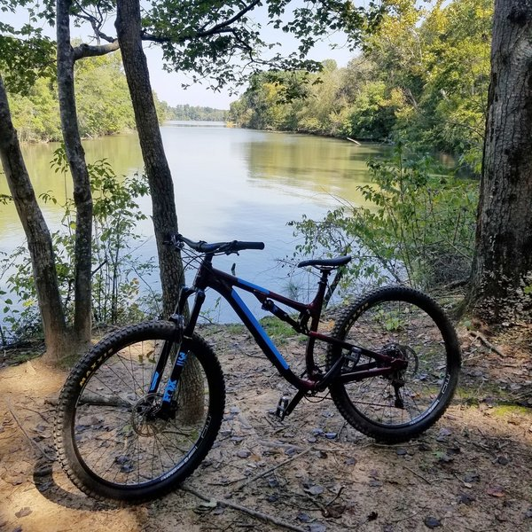 Awesome views of the Catawba river along the ride.