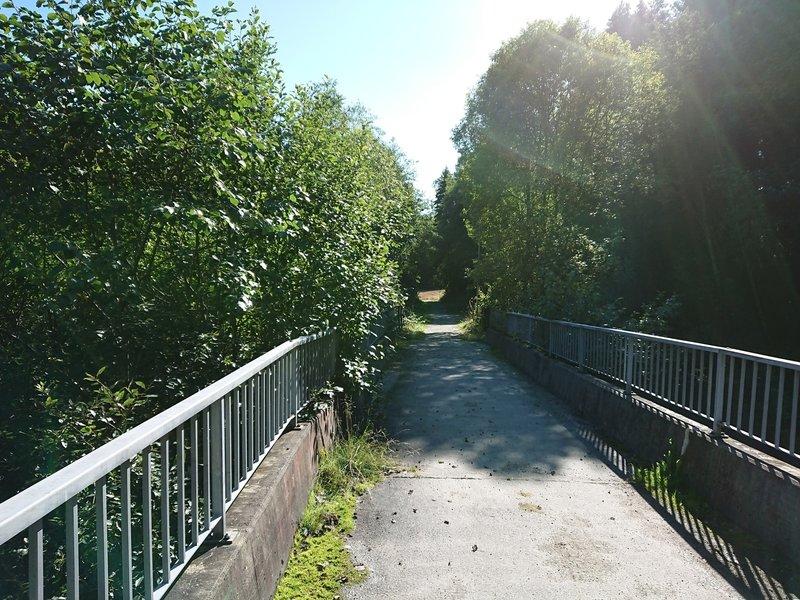 Kolstad bridge, looking back south east direction torwards the city centre