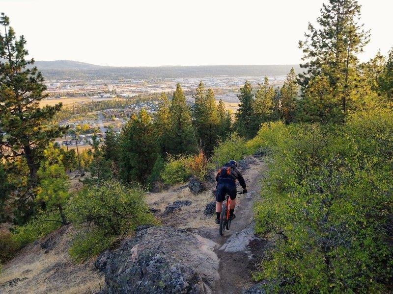 Spokane sprawl below Penny Lane.