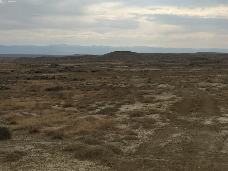 Beautiful view of BLM land and the Big Horn Mountains.