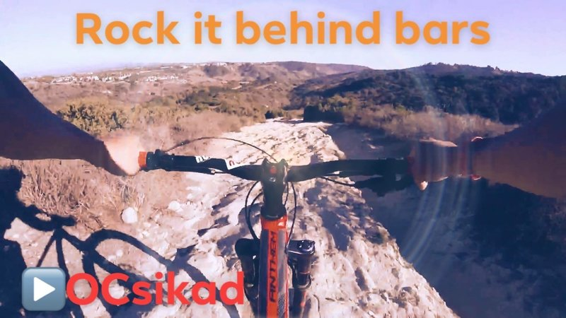 The view of Rock it Trail behind Bars...